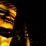 tikis at night